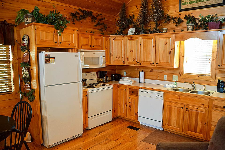 Family meals prepared in your full kitchen at your next rental cabin.
