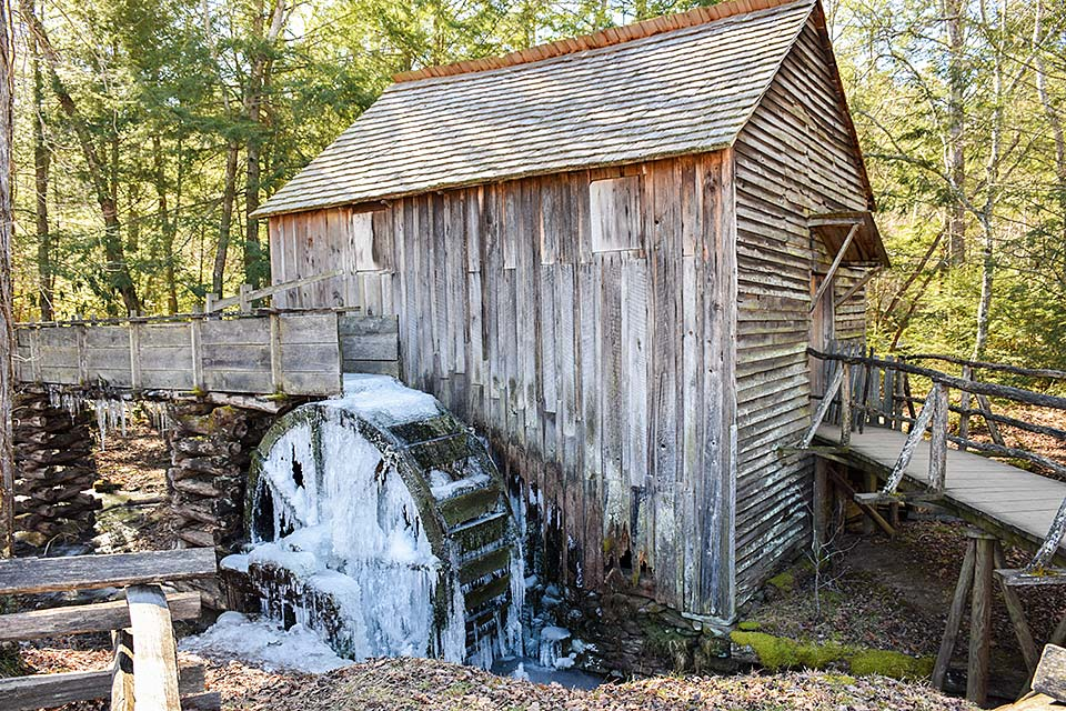 Grist mill in Cades Cove, Smoky Mountains