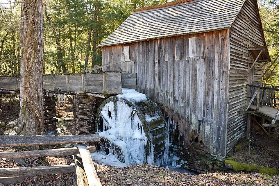 Old mill in the national park