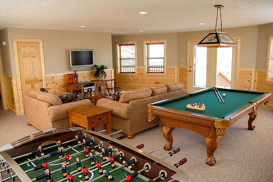 Private game room beats a hotel any day.