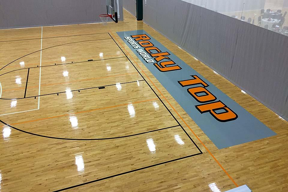 Indoor courts at Rocky Top Sports World
